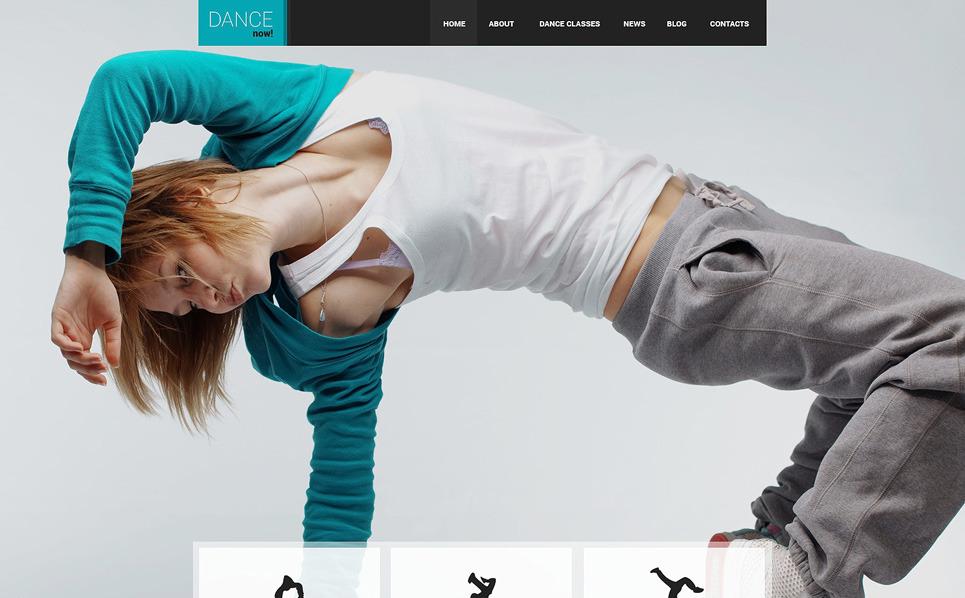 Адаптивний Шаблон сайту на тему школа танців New Screenshots BIG