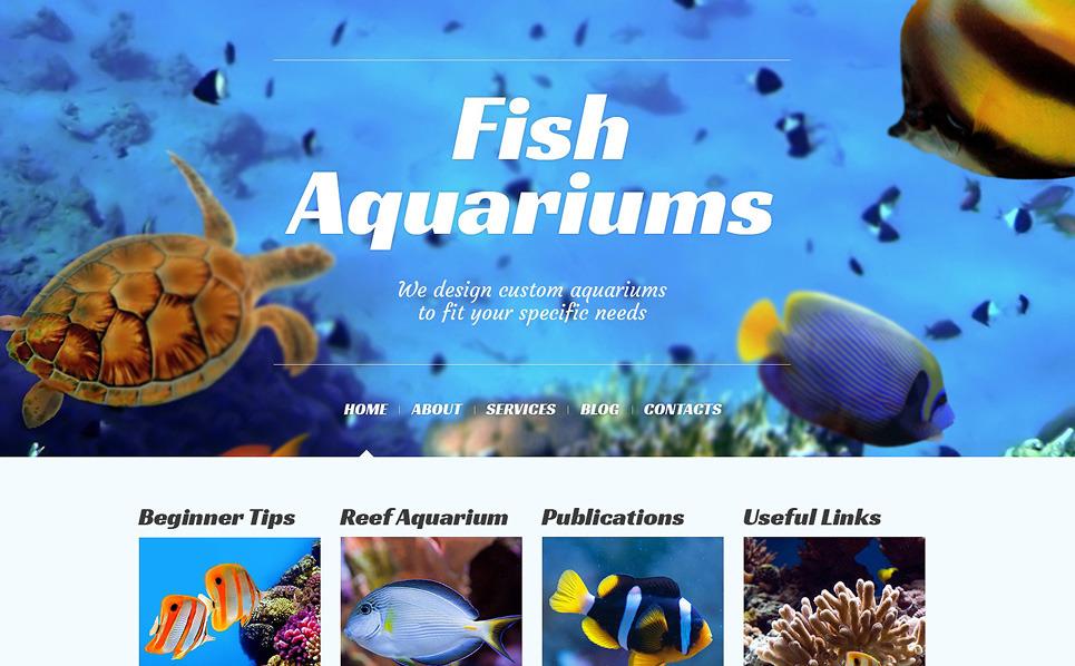 Адаптивний WordPress шаблон на тему риба New Screenshots BIG