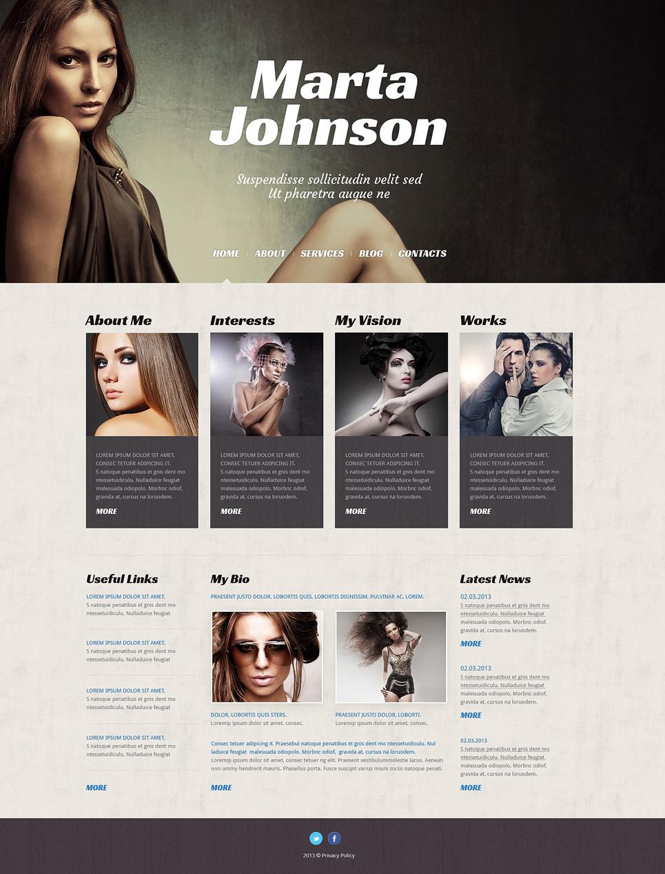 Адаптивный шаблон сайта на тему модельное агентство #50526