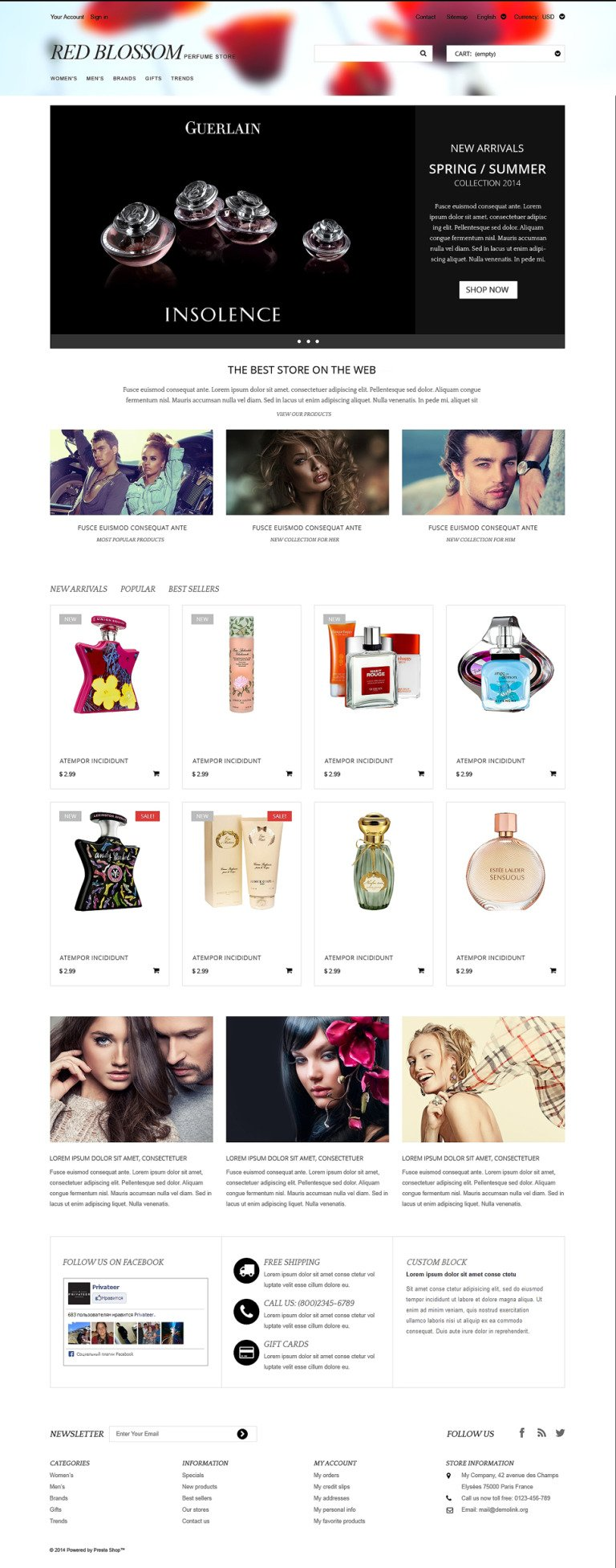 Any Taste Fragrance PrestaShop Theme New Screenshots BIG