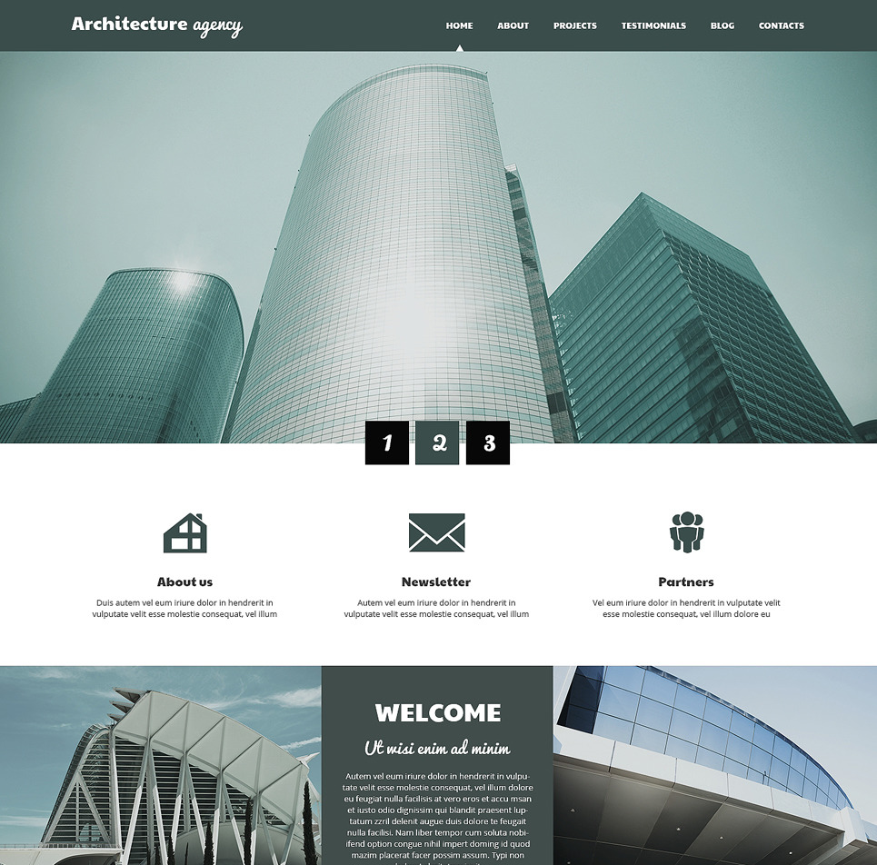 Architecture business wordpress theme site title for Architecture wordpress