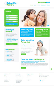 Babysitter Bootstrap Website Template 50548