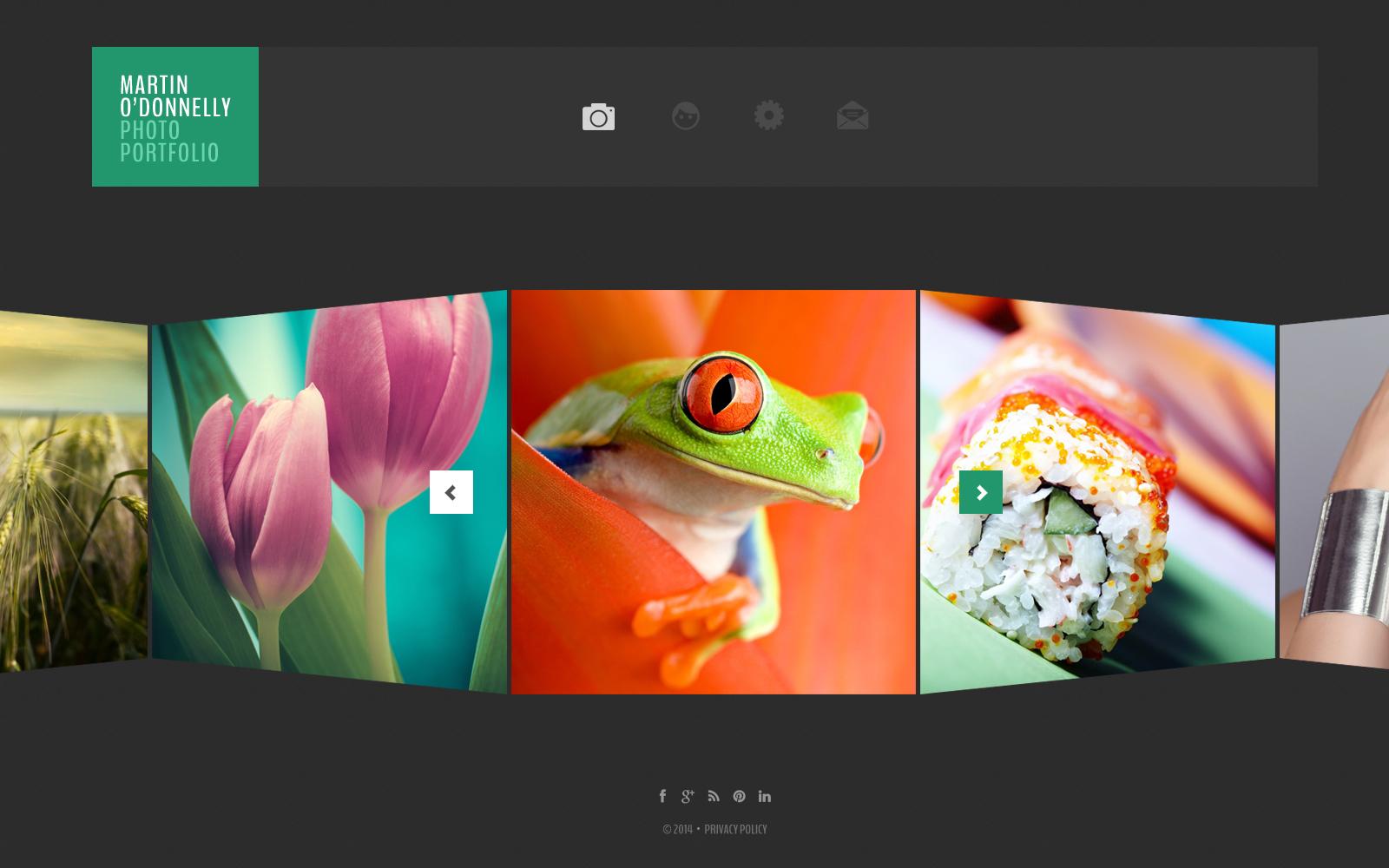 Bootstrap Fotoğrafçı Portföyü Web Sitesi #50506