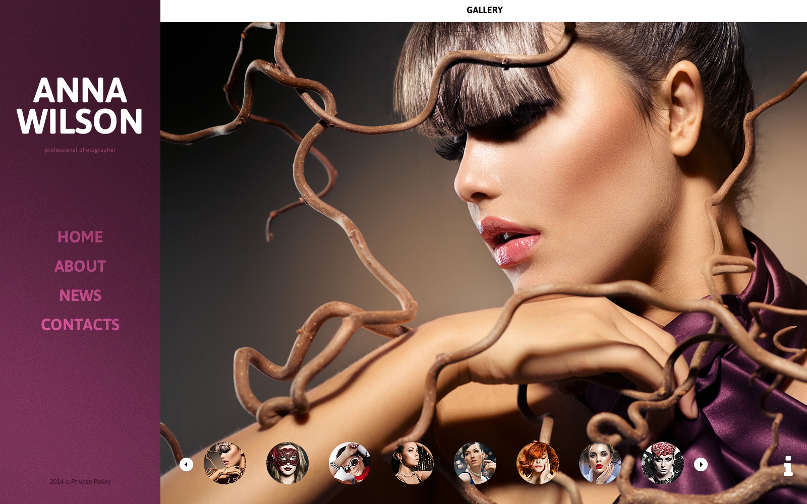 Bootstrap szablon strony www #50546 na temat: portfolio fotograficzne