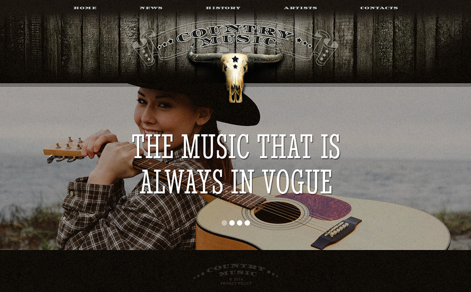 Bootstrap Website template over Muziek New Screenshots BIG