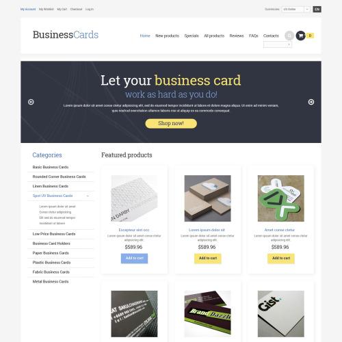 Business Cards - HTML5 ZenCart Business Template
