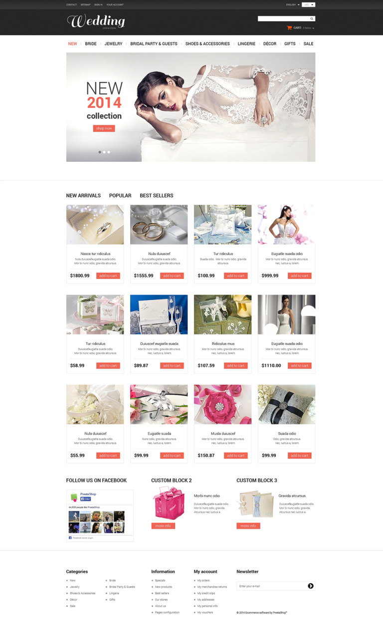 Dream Wedding PrestaShop Theme New Screenshots BIG