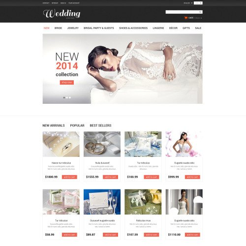 Wedding Store - PrestaShop Template based on Bootstrap