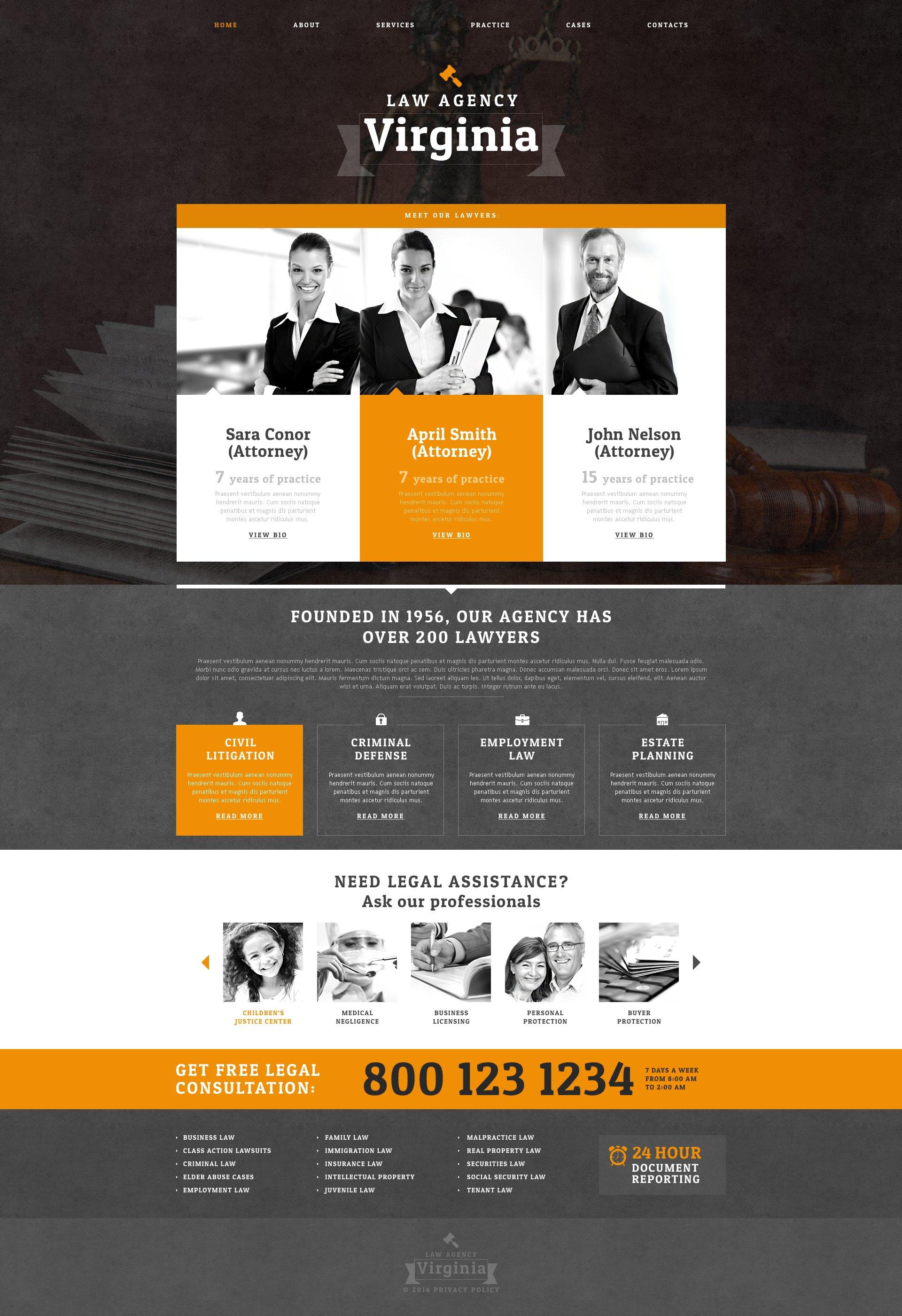 Drupal шаблон на тему юридична фірма №50510