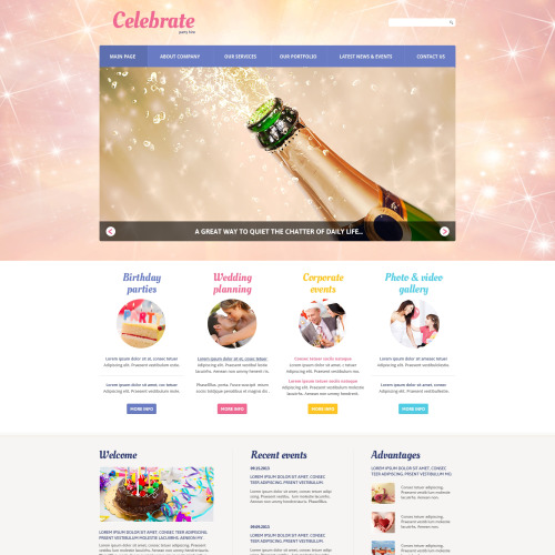 Celebrate - Entertainment Template based on Bootstrap