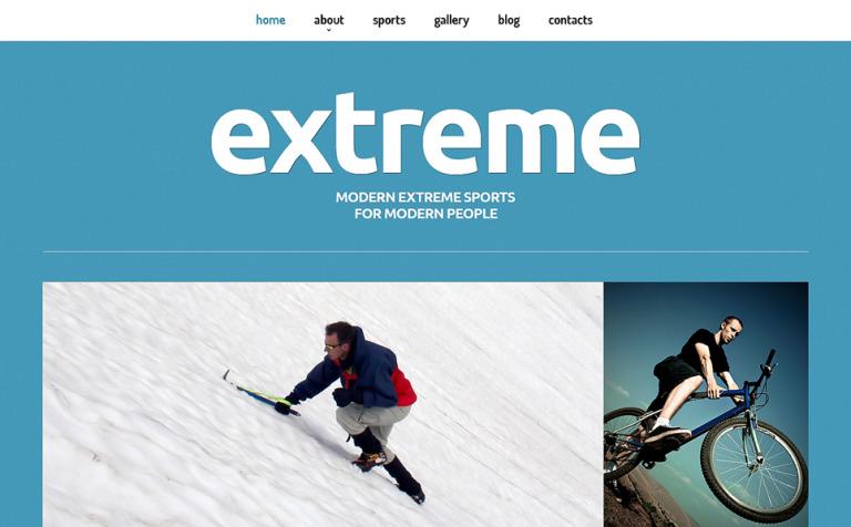 Extreme Sports Responsive Joomla Template