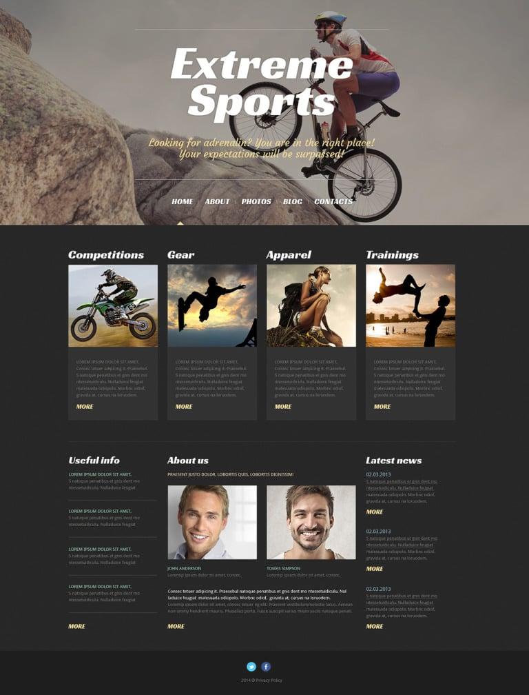 Extreme Sports Responsive WordPress Theme New Screenshots BIG