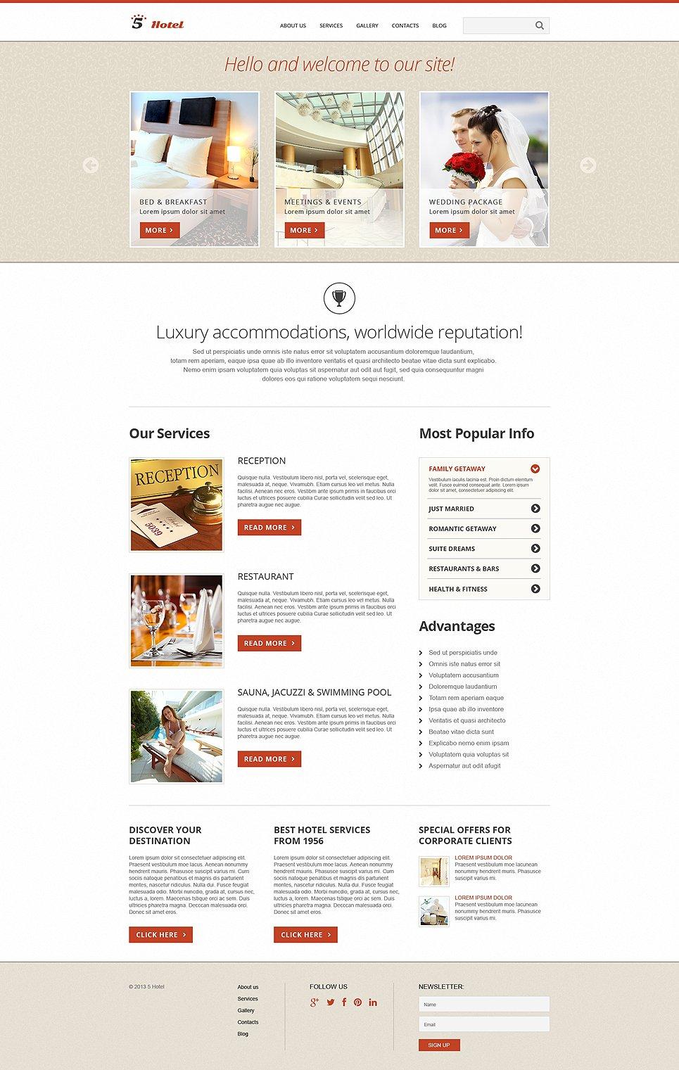 hotels responsive joomla template 50591