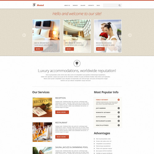 5 Hotel - Joomla! Template based on Bootstrap