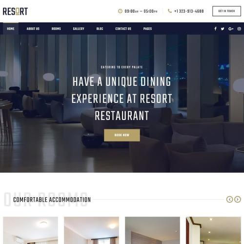 Nik Hotel - Website Template based on Bootstrap