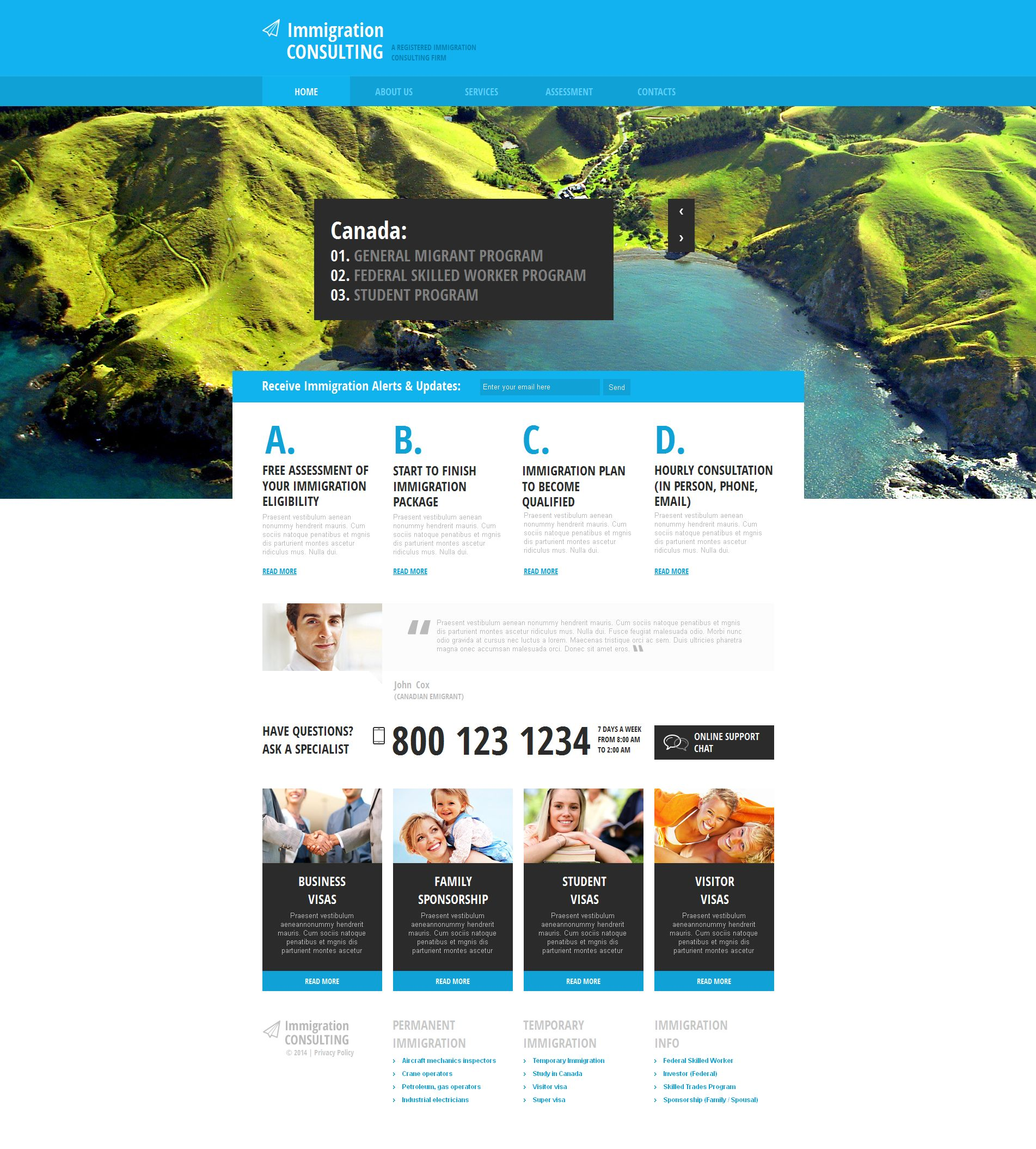 Immigration Consulting Moto CMS HTML Template