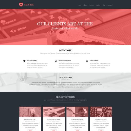Securex - HTML5 Drupal Template