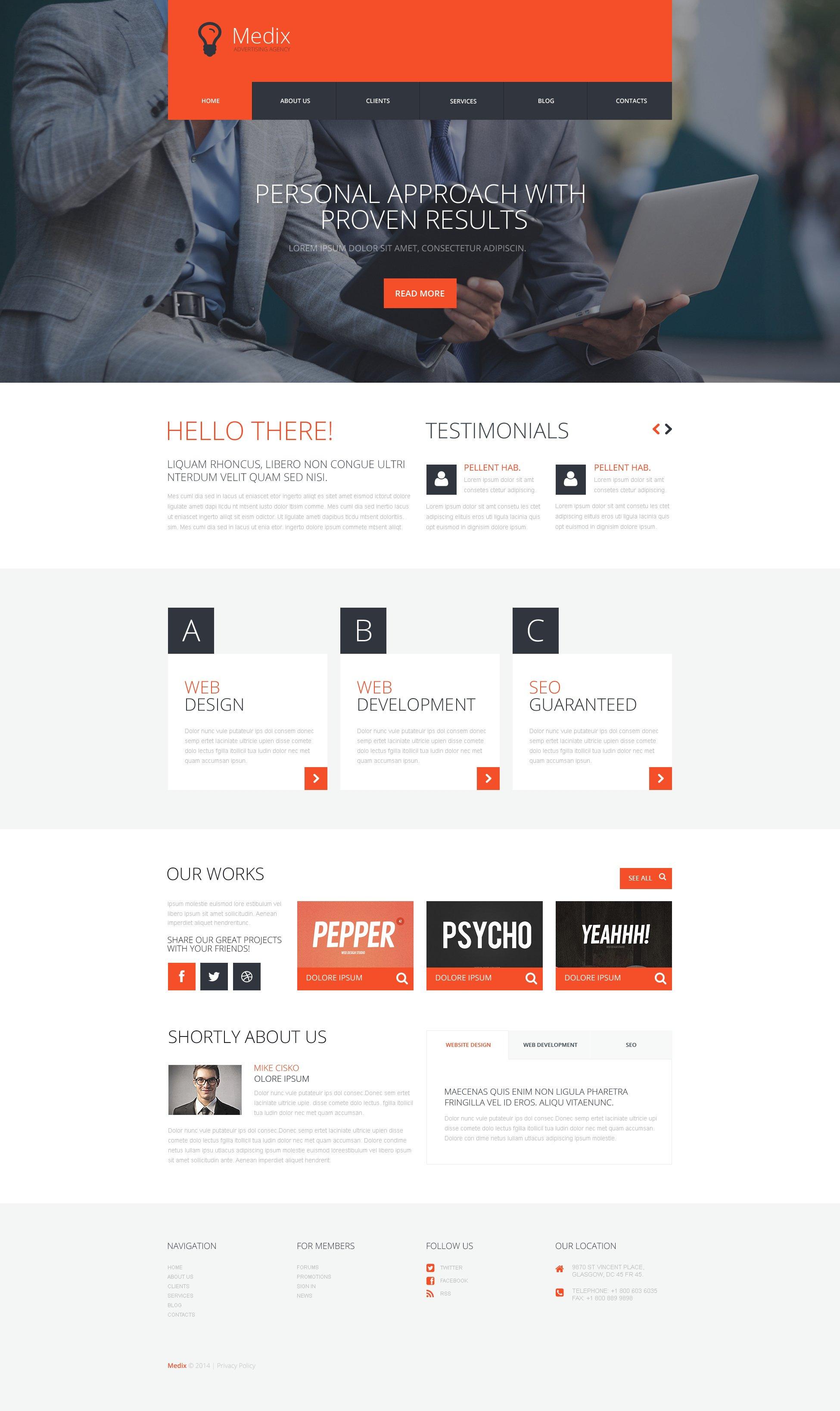 Interactive Ad Group Tema WordPress №50504 - captura de tela