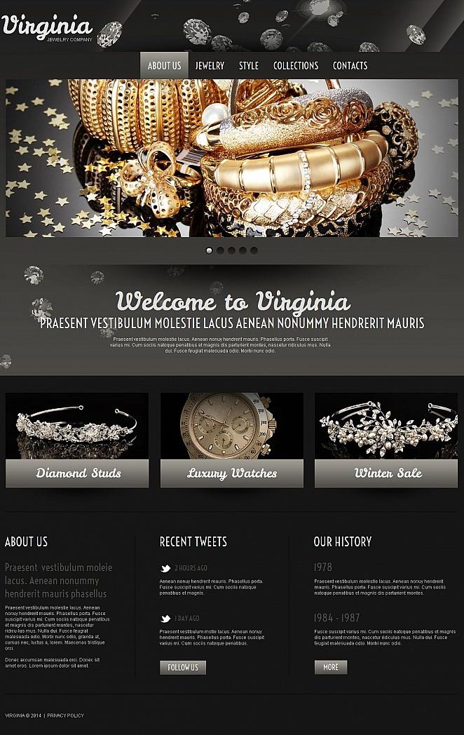 Jewelry Moto CMS HTML Template New Screenshots BIG