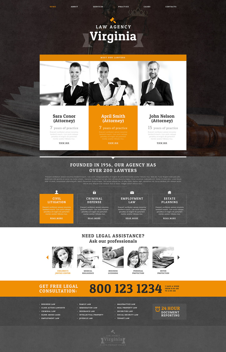 Law Firm Drupal Template New Screenshots BIG