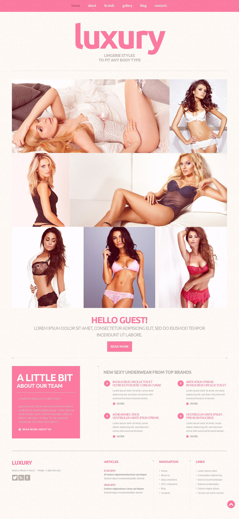 Lingerie Responsive Joomla Template New Screenshots BIG