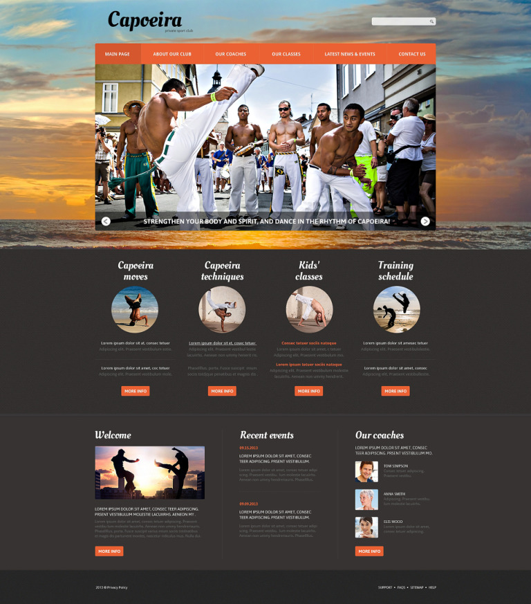 Martial Arts Responsive Joomla Template New Screenshots BIG