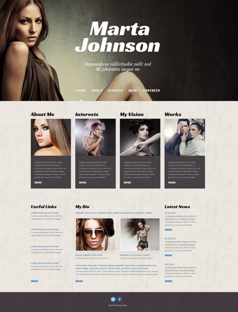 Model Agency Responsive WordPress Theme New Screenshots BIG