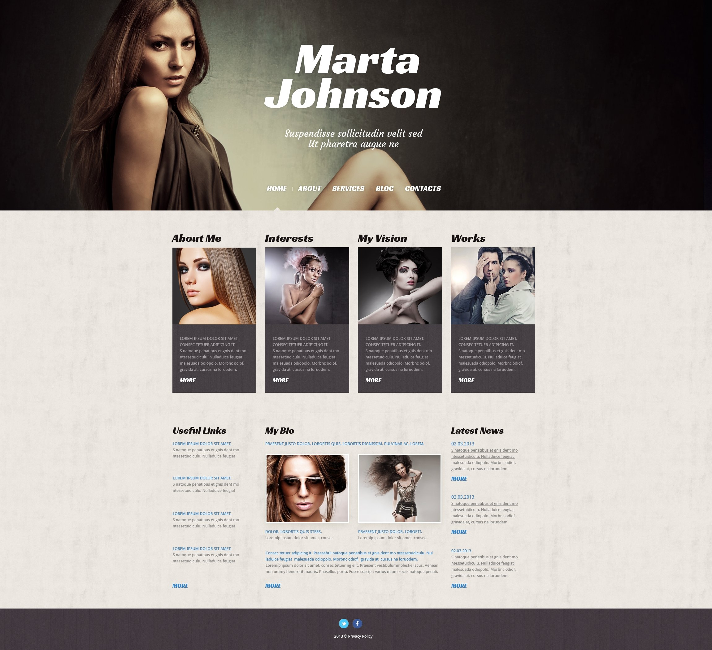 Model Agency Responsive WordPress Theme - screenshot