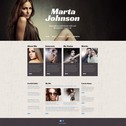 Marta Johnson - WordPress Template based on Bootstrap
