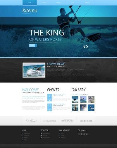 Kitesurfing Tema Moto CMS HTML