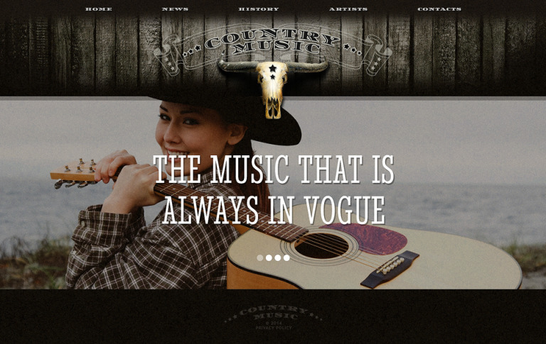Music Website Template New Screenshots BIG