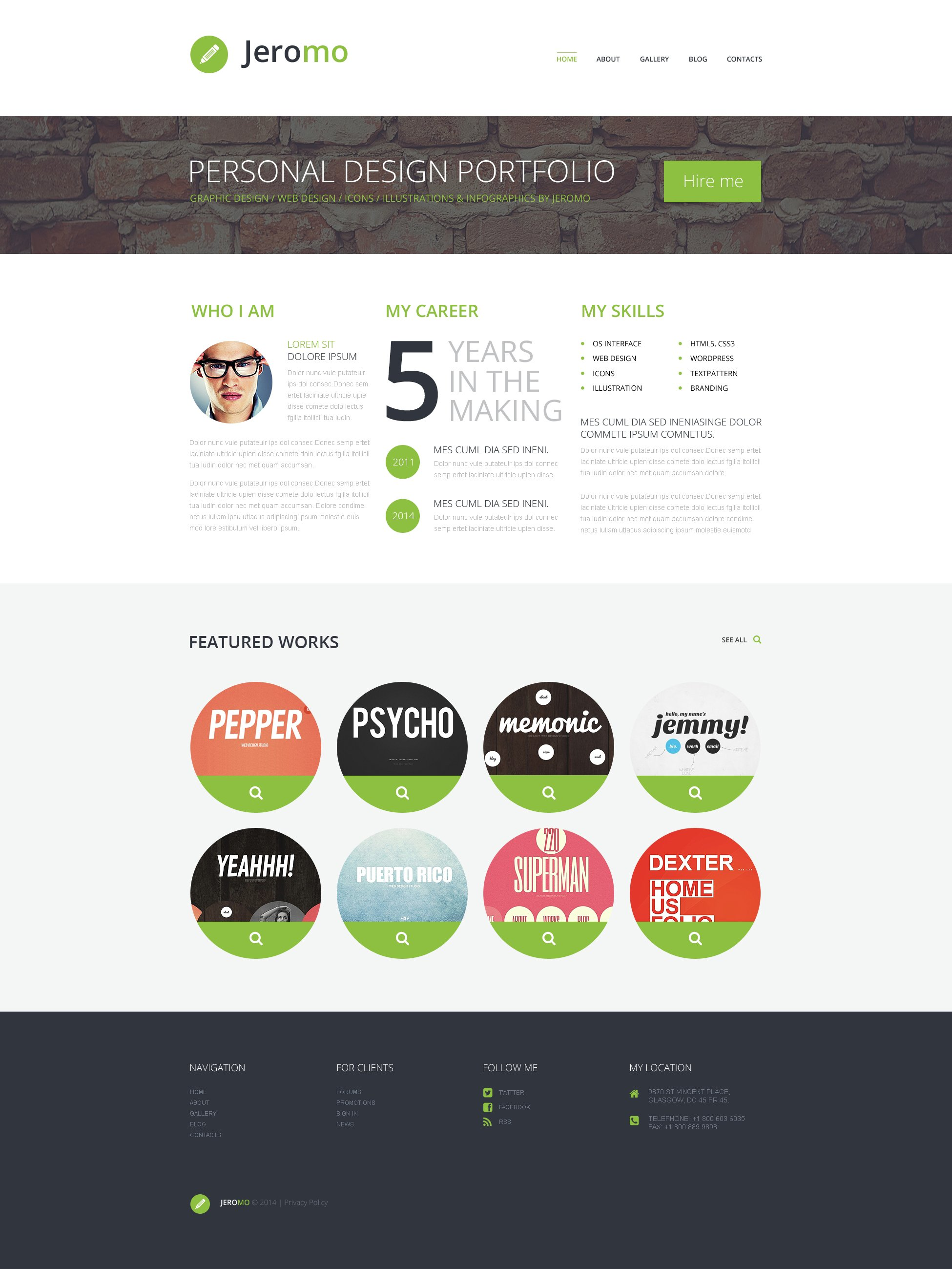 Personal Design Portfolio №50534 - скриншот
