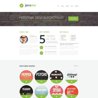 Bootstrap Wordpress Design Portfolio Themes