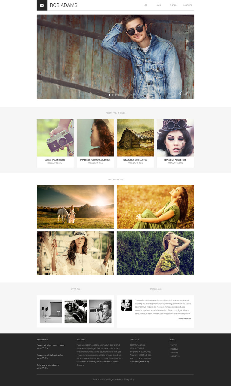 Photo Artist Drupal Template New Screenshots BIG