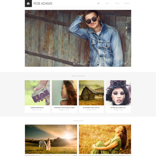 Rob Adams Portfolio Photography - HTML5 Drupal Template