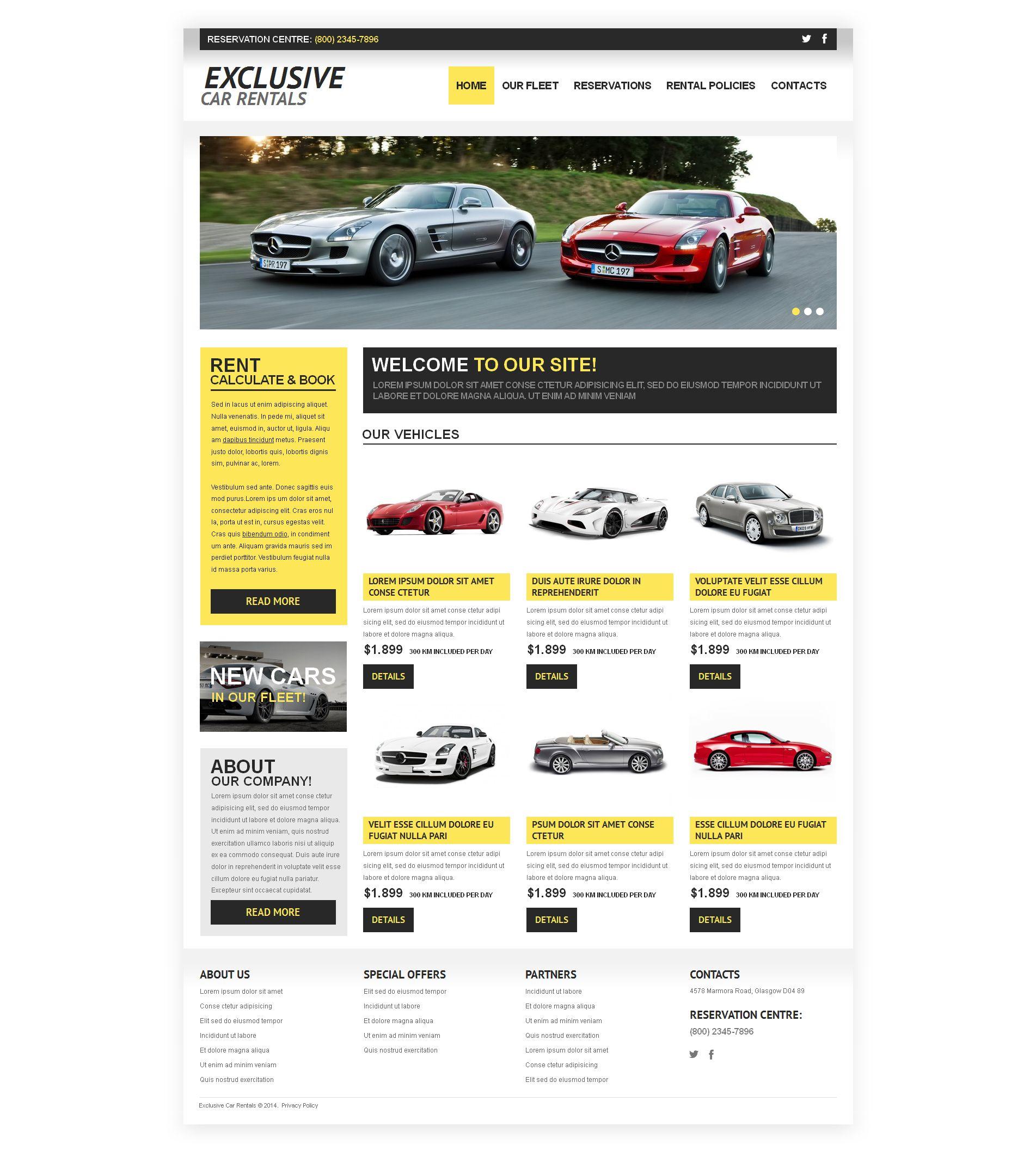 Plantilla Moto CMS HTML #50571 para Sitio de Alquiler de coches