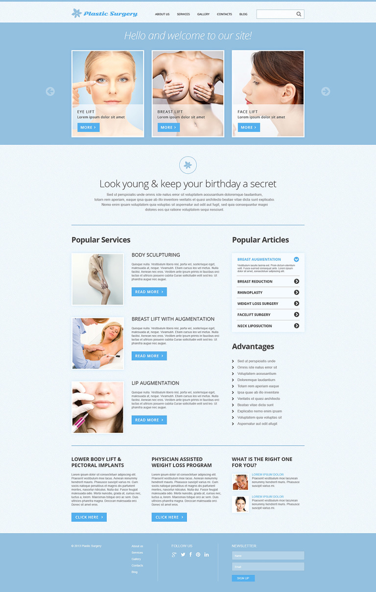 Plastic Surgery Responsive Joomla Template New Screenshots BIG