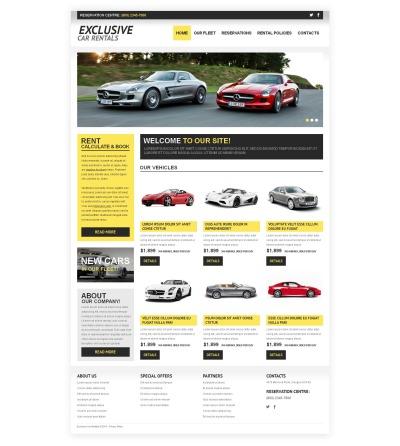 Car Rental Responsive Moto CMS HTML Sablon