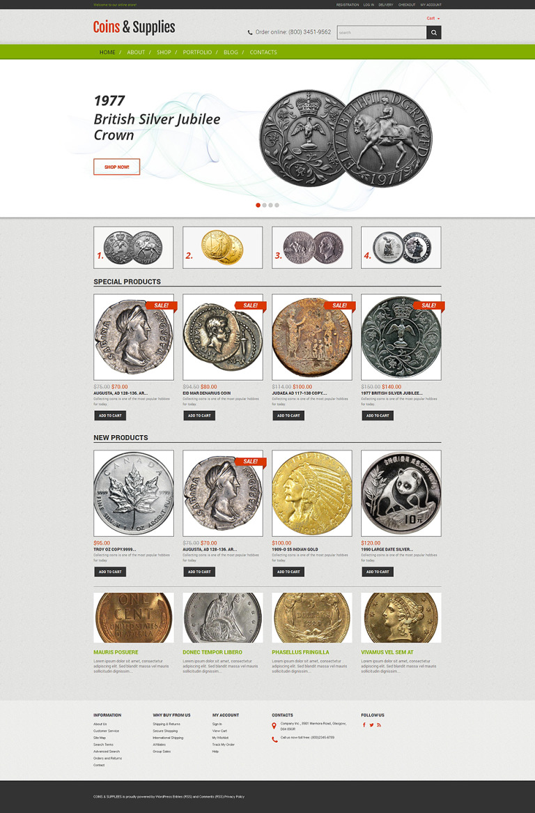 Rarity Coins WooCommerce Theme New Screenshots BIG