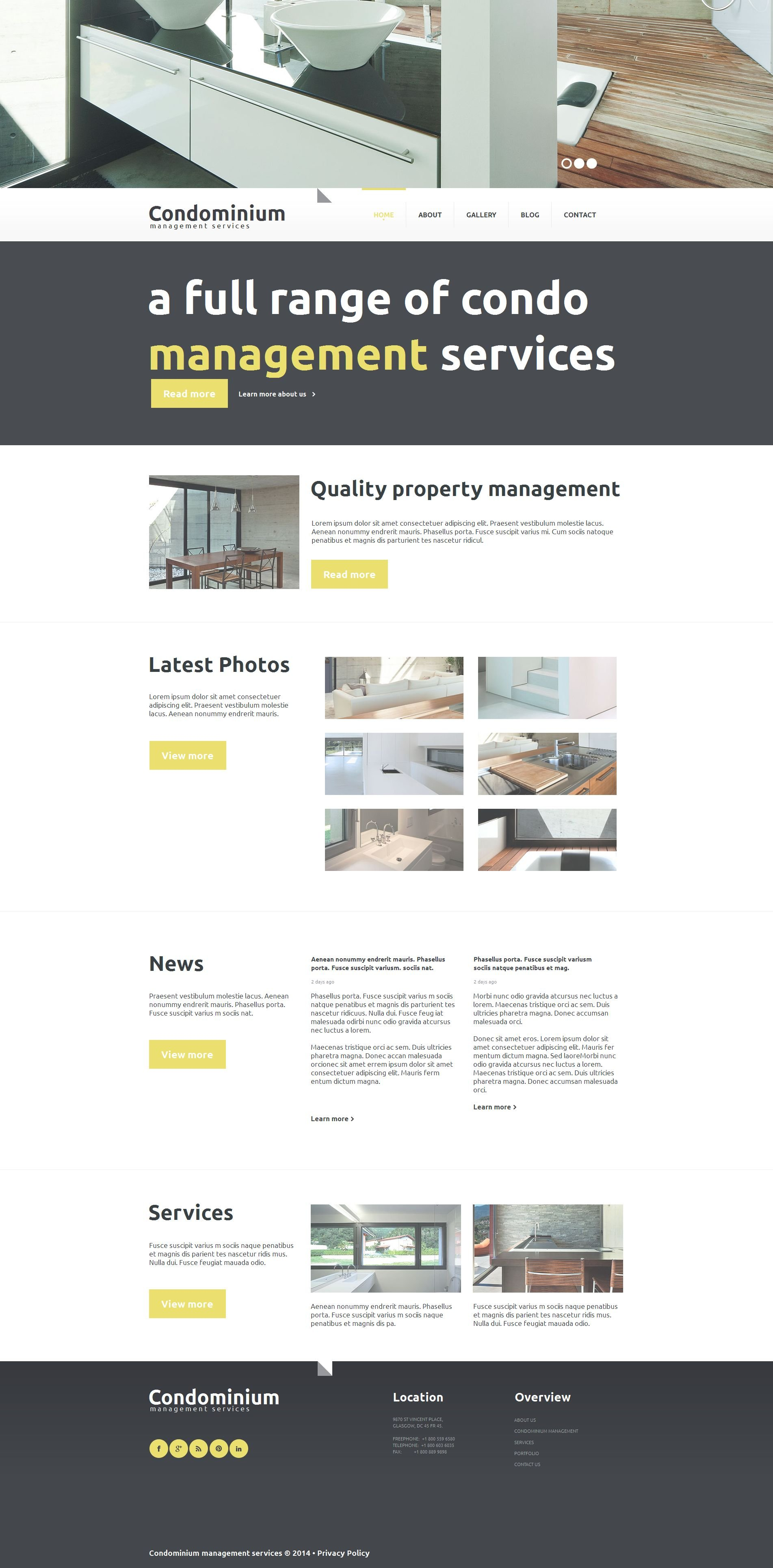 Real Estate Agency Moto CMS HTML Template
