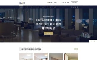 Resort - Hotel Multipage Modern HTML Bootstrap Website Template
