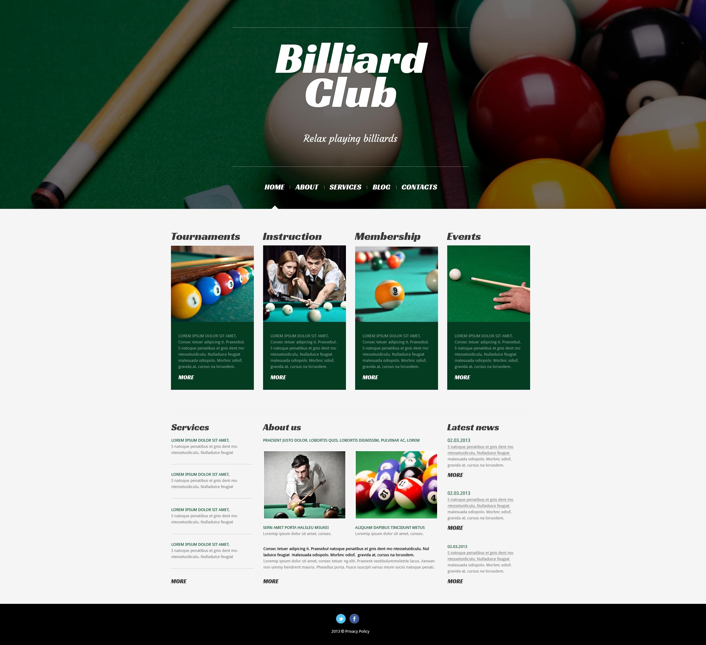 Responsive Bilardo Wordpress #50528