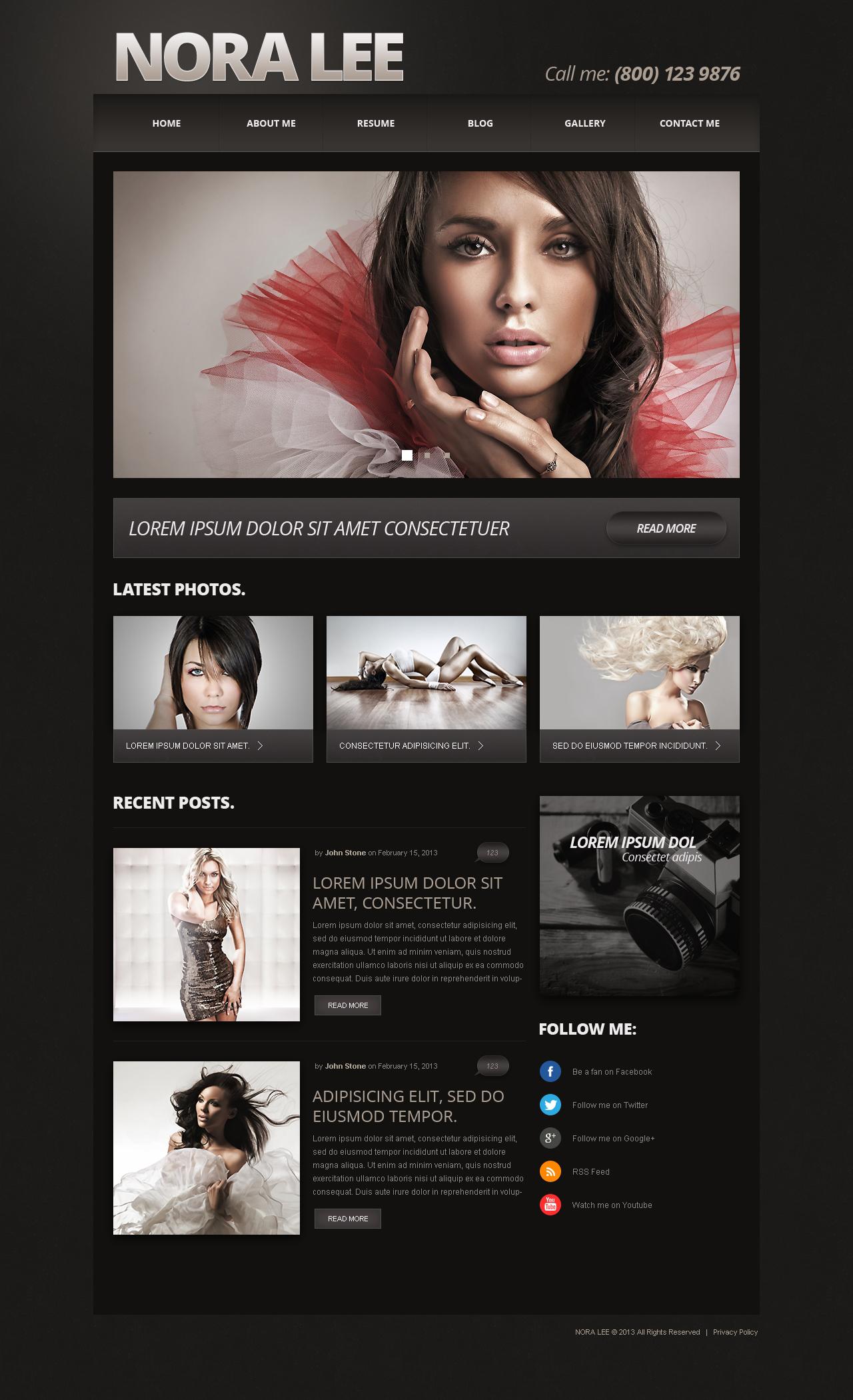 Joomla Vorlage #50587 für Fotografen Portfolio