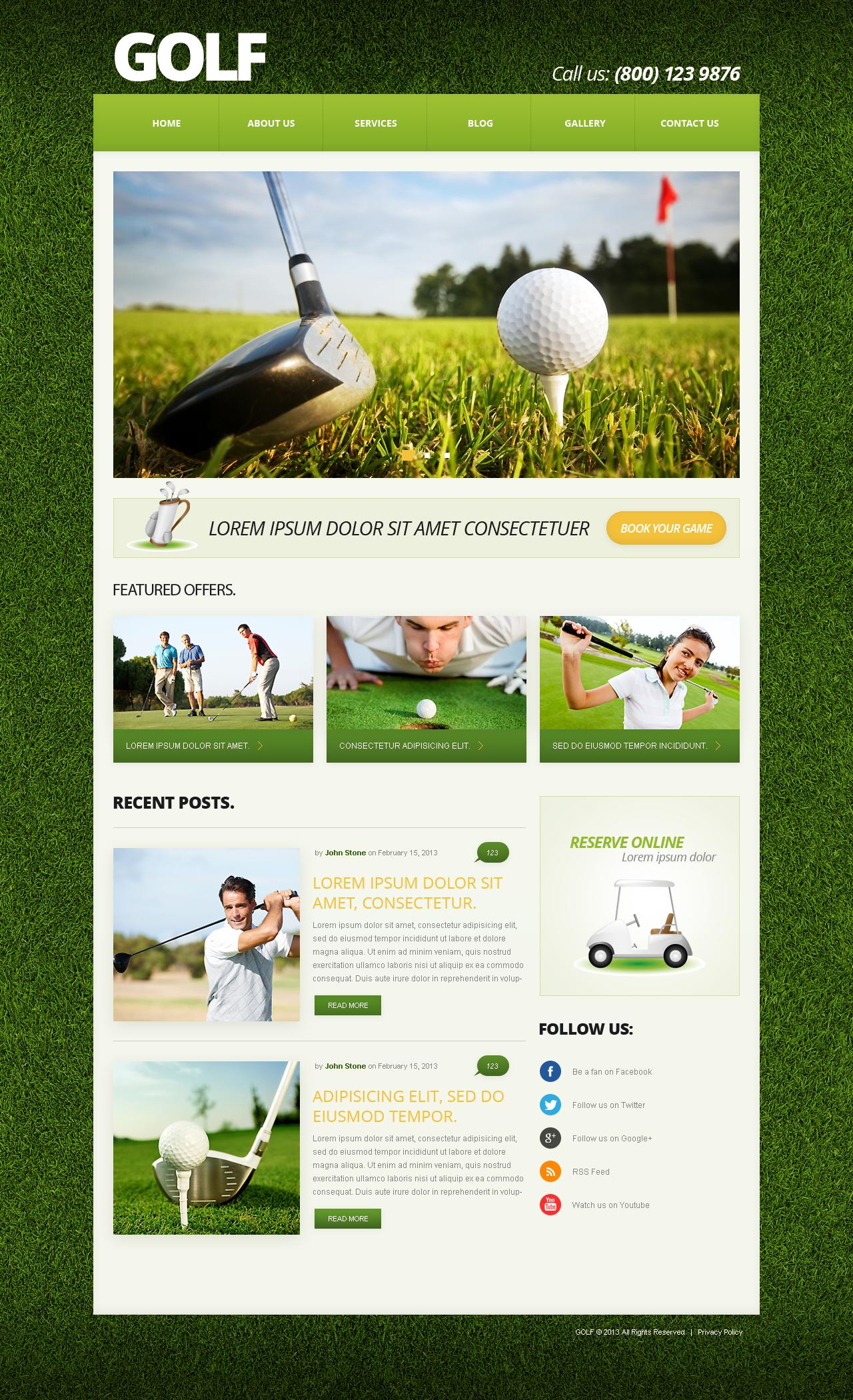 Joomla Vorlage #50588 für Golf