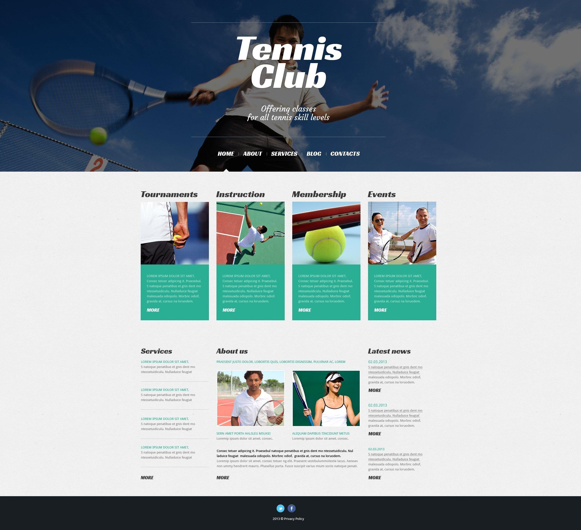Responsive Tenis Wordpress #50527
