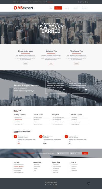 Responsywny szablon strony www #50515 na temat: firma inwestycyjna