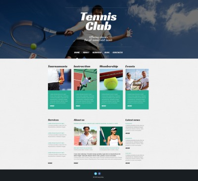 Tennis Responsive WordPress Motiv