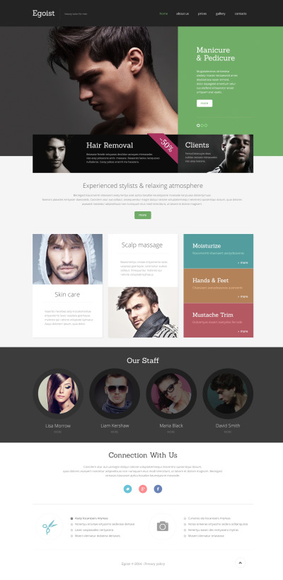 Beauty Salon Responsive Weboldal Sablon