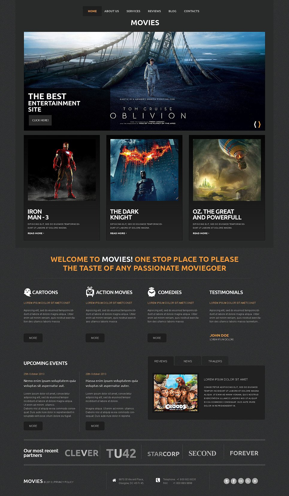 Sculpture Responsive WordPress Theme New Screenshots BIG