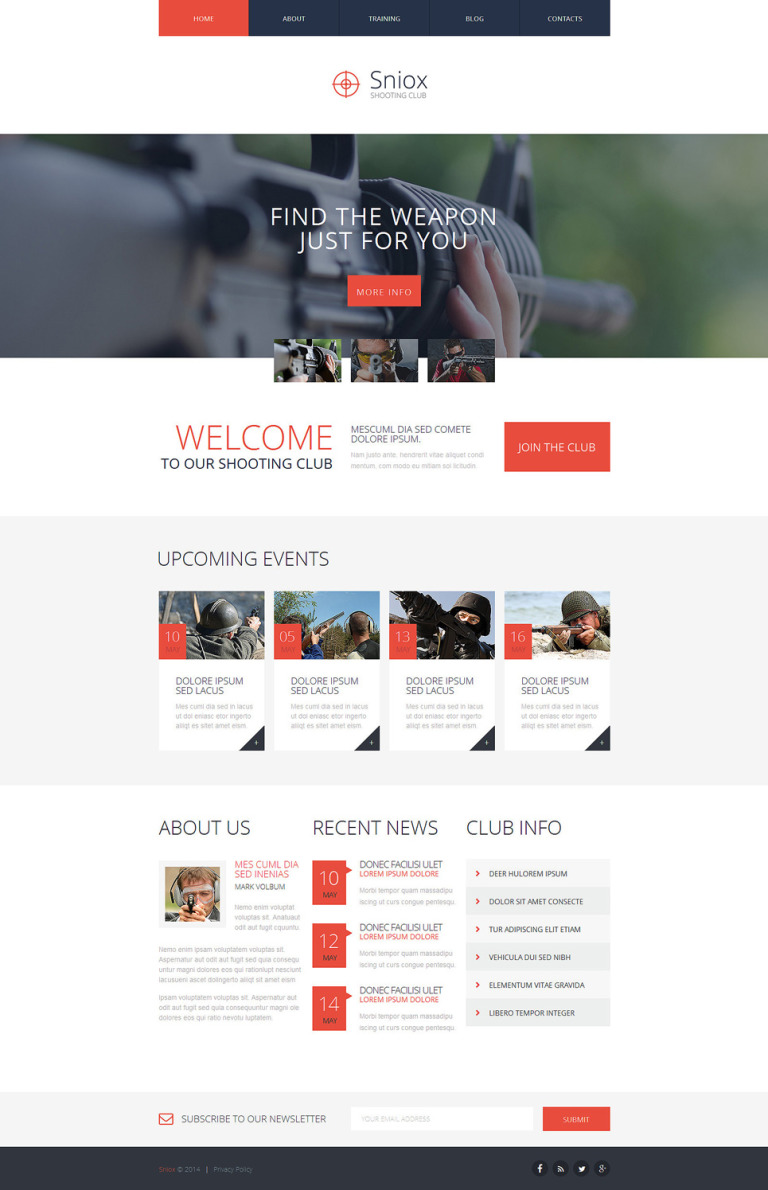 Shooting Responsive Website Template New Screenshots BIG